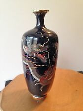 Japanese Cloisonne Vase with Dragon