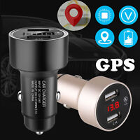 GPS Tracker Locator Tracking Device 3.1A Daul USB Car Charger Voltmeter 12/24