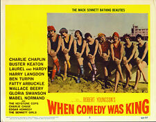 MACK SENNETT BATHING BEAUTIES orig lobby card WHEN COMEDY WAS KING 11x14 poster