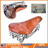 Retro Vintage PU Leather MTB Bicycle Saddle Classic Cycling Seat Cushion Pad USA