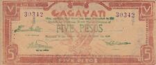 Philippines banknote emergency military 5 pesos Cagayan (1944) P-S191 S191b  XF
