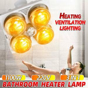 3in1 Bathroom Ceiling Heater Lighting Exhaust Fan Ventilation Shower Warmer Lamp