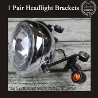 Steel Custom Hand-made Motorcycle Headlight Bracket Mount Holder For 41mm Fork