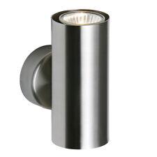 SAXBY ODI Satin Nickel Modern Decorative Indoor GU10 Up & Down Wall Light IP20
