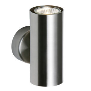 ODI Up & Down GU10 Wall Light - Satin Nickel - Dimmable - Indoor Hallway Sconce