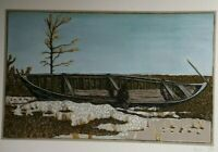 Billy Childish signed Print Man Sitting canoe Boat coverted number 1 art print!