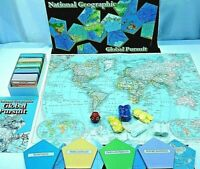Vintage Global Pursuit Boardgame 1980s National Geographic Game Board