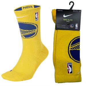 Nike Elite Basketball Crew Socks NBA Golden State Warriors Men's Large DA0222