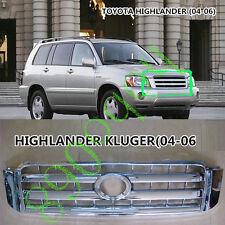 1x For Toyota HIGHLANDER KLUGER 04-06 MCU2 Car ABS Front Bumper Grid Grille DECO