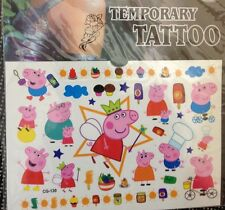 1 Pack  kid Peppa Pig Tattoo Temporary , Party Supplies star (buy 3 get 1 free )
