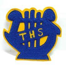 Varsity Letter A Swimming Sweater Jacket Patch Chenille Letterman VTG  Blue Gold