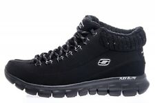 NEW SKECHERS ESKIMO 12016 BLACK FUR WINTER SNOW ANKLE BOOT SNEAKER SHOES 7.5 EW