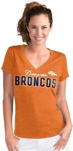 G-III 4her Denver Broncos Women's Home Run V-Neck T-Shirt - Orange