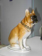 USSR Russian Lomonosov porcelain French Boxer / Bulldog In V.G.C. Free UK P&P