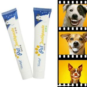 Edible Dog Puppy Cat Toothpaste Teeth Cleaning Care Oral Hygiene Pet  Fast
