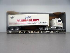 """Nylint GMC Blain's Farm & Fleet Semi Truck Trailer 21"""" Steel Scale Model"""