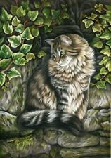 Tabby Cat Observation Point Print by I Garmashova