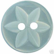 100 X Botones De Bebé Estrella Azul Talla 22 (13mm)