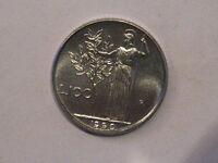 100 lire 1990 variante con gambo 99 chiusi  FDC rara