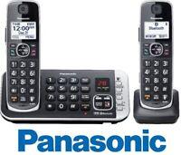 Panasonic KX-TGE672B  DECT 6.0 Expandable Cordless Phone 2 Handsets Answering