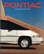BIG 1990 PONTIAC Brochure:FIREBIRD,TRANS-AM,GTA,GRAND PRIX,SPORT,BONNEVILLE,6000