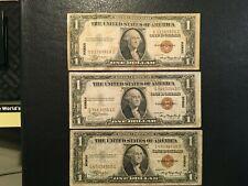 USA  (3 Notes)  1 Dollar HAWAII  -- 1935 A