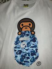 Bape A Bathing Ape Milo On Ape Head Shirt XL ABC Camo Blue