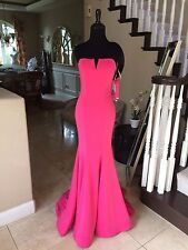 $398 NWT PINK JVN BY JOVANI PROM/PAGEANT/FORMAL DRESS/GOWN #31147 SIZE 4