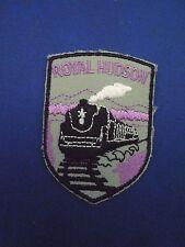Vintage Royal Hudson Steam Locomotive Train Tourist Patch