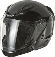Fly Racing Tourist Solid Open Face Helmet Black F73-8100~5 XL