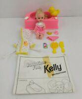 Vintage Bathtime Fun Kelly Doll Barbies Little Sister 1995 Mattel Pink Tub Robe