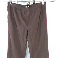 Danskin Now Track Pants Women Size M 8-10 Brown Pink Mesh Lined Work-out