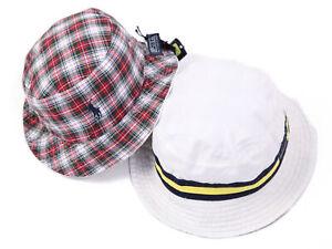 Polo Ralph Lauren Reversible Safari Bucket Hat Cap White, Yellow, Navy sz S/M