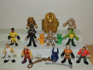Imaginext Figures Lot Mummy Sarcophagus Weapons Accessories Armor