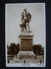 Real Photograph Unused Black & White Post Card The Drake Memorial Plymouth Hoe