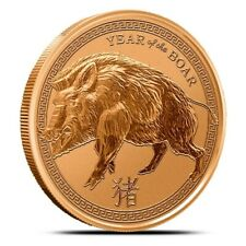 1 oz Copper Round - Year of the Boar