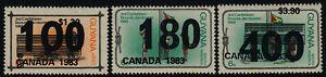 "Guyana 650-2  error o/p also on gum MNH Scouts, o/p ""Canada 1983"""