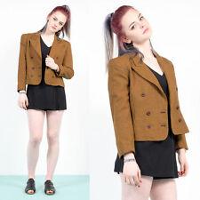 Vintage 80's Houndstooth Blazer Amarillo Y Negro Dogtooth patrón chaqueta 12