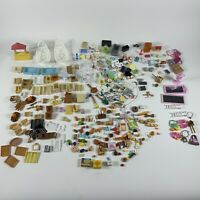 calico critters ? huge lot miniature accessories for doll figures house pieces