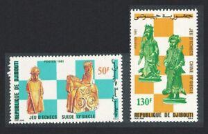 Djibouti Chess Pieces 2v 1981 MNH SG#826-827 CV£7.75