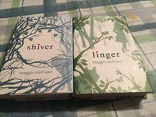 Lot 2 SHIVER TRILOGY Maggie Stiefvater Linger Shiver HBDJ VGC