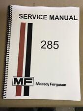 285 Massey Ferguson Tractor Technical Service Shop Repair Manual MF285 MF