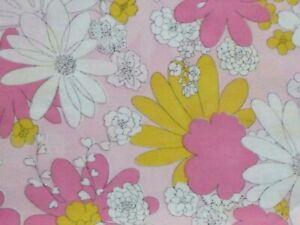 Pr Vtg Cannon Monticello PINK Blossom Festival Flower Power Pillowcases 50/50 Mu