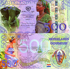 NEDERLANDS GUINEA 500 Gulden Fun-Fantasy Note 2016 Issue Young Girl Elephant