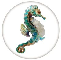 Enamel Blue Green Sea Horse Fish 20mm Snap Charm For Ginger Snaps Jewelry