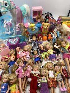 Huge Barbie Doll Little Sister Lot Chelsea Kelly Skipper Horse Accessories Pool