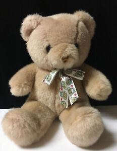 TEDDY HERMANN GmbH Beige BEAR Plush HIRSCHAID / GERMANY W/ Hearts Bow L10