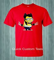 MINIONS WOLVERINE T-SHIRTS NEW MOVIE 2015 NICE COOL NEW  DESIGN KIDS / ADULTS