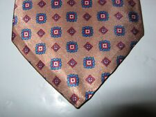 TIE NECKTIE OAKTON 55 x 3 Silk Brown Blue Red 13231 FREE US SHIP