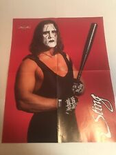 Rowdy Roddy Piper Sting wcw wwe wrestling magazine 2-sided pinup poster photo